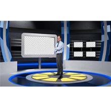 什么是真三维虚拟演播室场景素材是否可以提供定制化