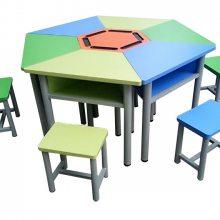 佛山港文家具小学生课桌椅定做供应钢制课桌椅价格