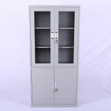 厂家直销办公室钢制文件柜透明储物收纳柜员工存储柜大器械柜