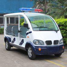 安步优品ABLQX080蓝白色三排座电动巡逻车 六座开放式电动巡逻车厂家