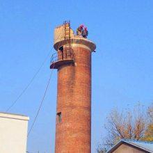 人工拆除65米砖烟囱施工队