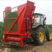 拖拉机带牵引式玉米秸秆收割粉碎回收机 大型一体机农用切碎收集机