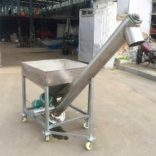 石膏粉螺旋提升机 咖啡豆装车螺旋提升机 5米长上料机价格