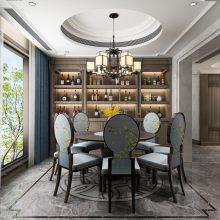 棕榈泉悦江国际大平层装修,悦江国际二期设计效果图,悦来天古装饰