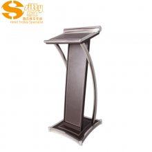 专业生产SITTY斯迪95.9023FF-1A拆装式流线型皮质演讲台/咨客台
