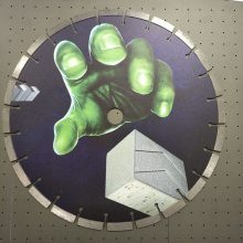 天津锯片高清喷绘机 齿型锯片印花机 硬质合金锯片理光平板机厂