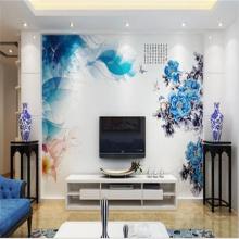 厂家定制高清数码彩印 山水画装饰钢化玻璃