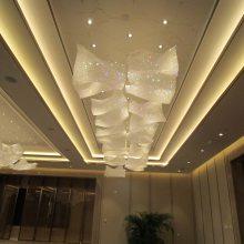 润林泉生产售楼部现代简约工程水晶LED灯