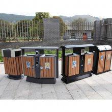 创意型分类垃圾果皮箱 户外四分类垃圾桶 垃圾桶 不锈钢垃圾箱