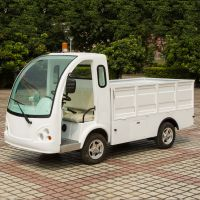 安步优品ABLQF092白色载重1吨新款两座场内平板四轮电动货车 场内搬运车 电动运输车