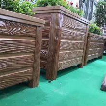 水泥仿木花箱价格 水泥仿木花桶价格
