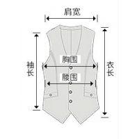 西安马甲订做 专业定做各种马甲 无领 修身型 单排扣
