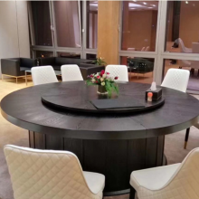 厂家定制酒店简约现代餐桌椅 农庄碳烧火锅桌 炭化木家具