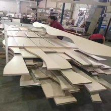 现代室内装饰材料木纹弧形铝方通吊顶天花幕墙型材U型铝方通厂家定制