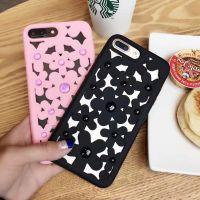 镂空花硅胶iPhone6plus保护套时尚苹果7G镶钻手机壳全包防摔软壳