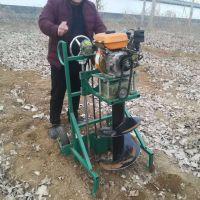 亚博国际真实吗机械 立柱埋桩绿化园林植树挖坑机 手持式挖坑钻坑机 大直径螺旋植树挖坑机