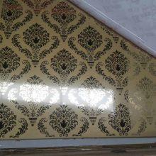 厦门海边别墅豪华装饰 室内装饰不锈钢蚀刻板 玫瑰金镜面不锈钢蚀刻板
