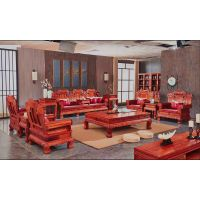 红木家具大果紫檀沙发10件套报价 名琢世家品牌