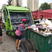 240L垃圾桶装的垃圾压缩车 东风天锦14方上牌不超重的环卫垃圾车型号