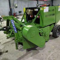 玉米秸秆粉碎打包机 四轮拖拉机带小型自走式打捆一体机 捆草机
