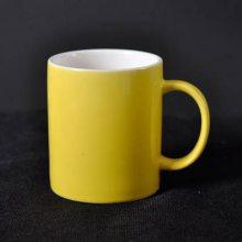陶瓷马克杯雕刻定制企业LOGO器形 多种颜色直桶陶瓷杯宣传广告杯