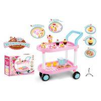 儿童仿真过家家厨房玩具套装 43PDIY生日蛋糕切切乐茶点购物推车