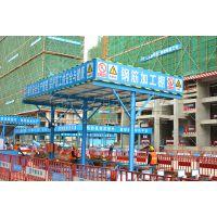 四川钢筋加工防护棚 移动式钢筋防护棚厂家 汉坤实业