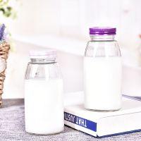 玻璃饮料瓶 围棋盖白色蒙砂瓶 创意新款饮料瓶