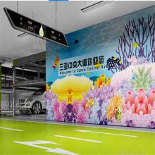 创安顺3D地下停车场车库3D效果图设计CAD平面设计交通设施定做