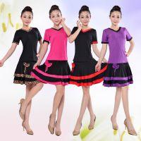 广场舞服装新款套装夏秋季舞蹈服表演服短袖跳舞服装拉丁舞中老年