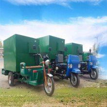柴油撒料车 能达到一次投料完成喂牛 牛舍内用撒料车 润丰