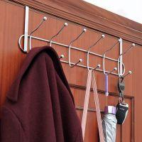 不锈钢门后挂钩免钉门上挂衣架免打孔挂架浴室卧室挂门上的置物架