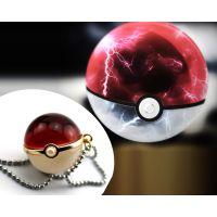 PokemonG0宠物小精灵项链精灵球水晶球项链吊坠神奇宝贝