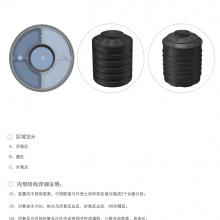 1.0注塑一体化双翁漏斗式化粪池+1立方一体化净化槽污水处理系统