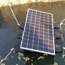 太阳能曝气机,污水处理设备,PLC控制柜一体化控制