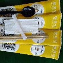 生产一次性筷子四件套包装机器/纸巾筷子牙签勺子餐具包装机
