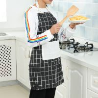 韩版时尚围裙男士厨房作饭防油渍无袖围腰背带式可爱女成人罩衣