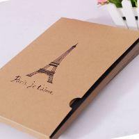 韩版创意巴黎铁塔复古牛皮纸相册 个性diy手工收藏册子 一件代发