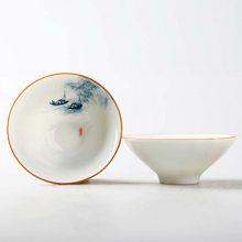 品茗杯陶瓷小茶杯家用功夫茶具套装泡茶杯子日式品茗杯主人杯单杯