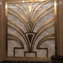 黑钛金装饰酒店花格,订制酒店金属格栅
