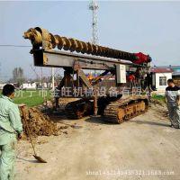 CFG长螺旋轨道式钻孔机 工程建筑工地用的螺旋打桩机厂家