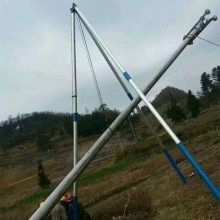 铝合金三脚架立杆机 电力水泥起杆器 铝合金人字扒杆