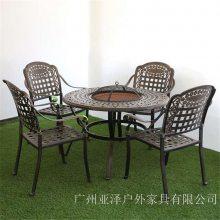 户外休闲金属圆桌 四川成都 铸铝铸铁家具 高铁站铸铝桌椅