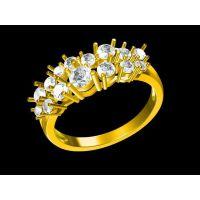 黄水晶男款戒指定做 欧美戒指 金戒指鉴别—复古首饰加工厂家