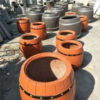 水泥新材料钢筋混凝土花盆花桶 水泥防腐木花桶花盆 厂家直销