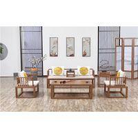 木言木语 新中式现代简约实木沙发定制批发 传承明清家具精髓