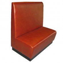 皮制软包沙发,餐饮店卡座式沙发,深圳来图定制沙发厂