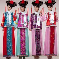 特价清朝古装女格格服宫女妃子满族旗装民族表演出舞蹈台甄嬛服装