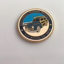 珐琅汽车纪念币,圆形活动币制作,广东纪念币生产