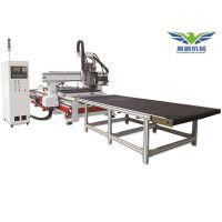 木工加工中心雕刻机圆盘换刀cnc数控开料机木工机械四工序下料机